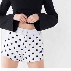 UO Exclusive Champion Polka Dot Shorts